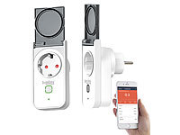 Luminea Home Control 2 Outdoor-WLAN-Steckdosen, Amazon Alexa & Google Assistant komp., 16 A