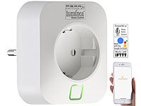 Luminea Home Control WLAN-Steckdose mit App, 16 A, für Amazon Alexa & Google Assistant