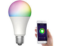 Luminea Home Control WLAN-LED-Lampe für Amazon Alexa/Google Assistant, E27, RGB, CCT, 12 W